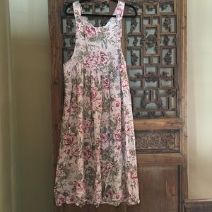 Dresses & Skirts - Overall dress 90's vintage floral